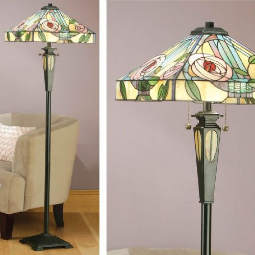 Willow Floor Lamp (Art Nouveau, Mackintosh, Nature, Floor Lamp) TG106F (Tiffany style)